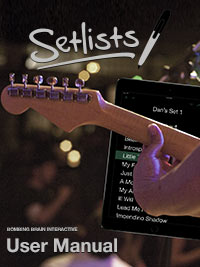 Setlists User Manual